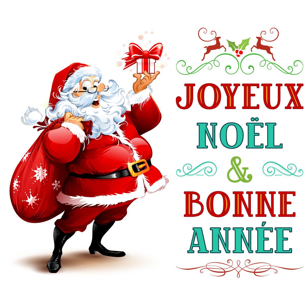 sticker-noel-pere-noel-joyeux-noel-et-bonne-annee-5-ambiance-sticker-col-inc_SAND_L104  - Librairie Carine